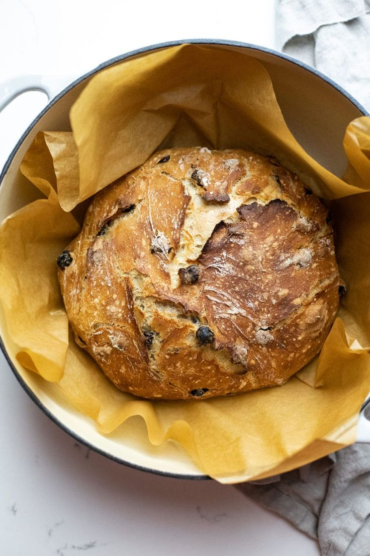 The most delicious homemade bread recipe! This artisan cinnamon raisin bread is a must-try for all bakers. It takes only 6 pantry ingredients and 1 hour for the dough to rise. The flavor is perfectly sweet and the texture is crunchy with a doughy inside!   asimplepalate.com #bread #cinnamonraisinbread #noknead #dutchoven #homemade