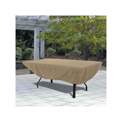 Rectangular Patio Table Cover In Sand 58242 | Classic Accessories Furniture  Covers Reviews