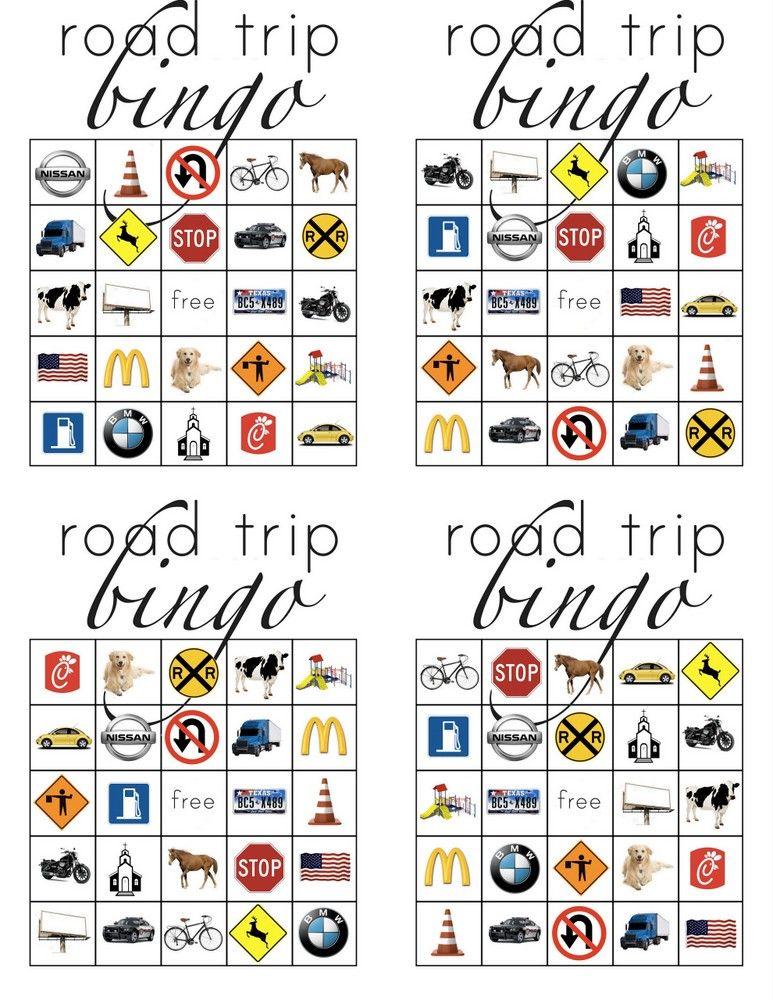 photo about Road Trip Bingo Printable known as Street Family vacation Bingo: Relatives Street Family vacation Printables MPMK