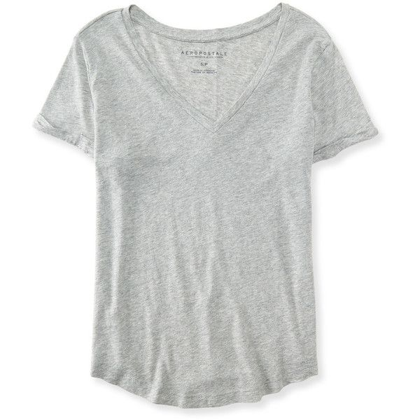 Aeropostale Seriously Soft Perfect V-Neck Tee ($6) ❤ liked on Polyvore  featuring