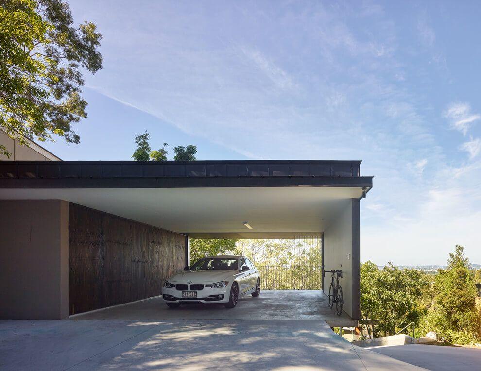 Garage mit carport modern  modern-carport | garage | Pinterest | Balkon