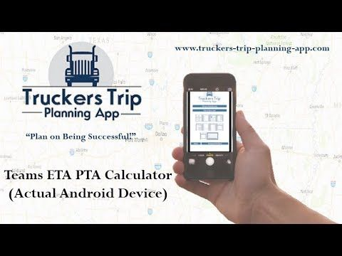 How to Manage Time Calculating Your HOS, ETA, PTA, and NAT With The - Spreadsheet Free Download For Android