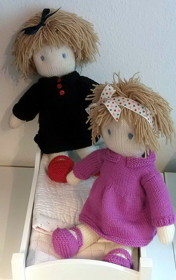 Doll Knitting Pattern Pdf Instant Download Pinterest Knitted
