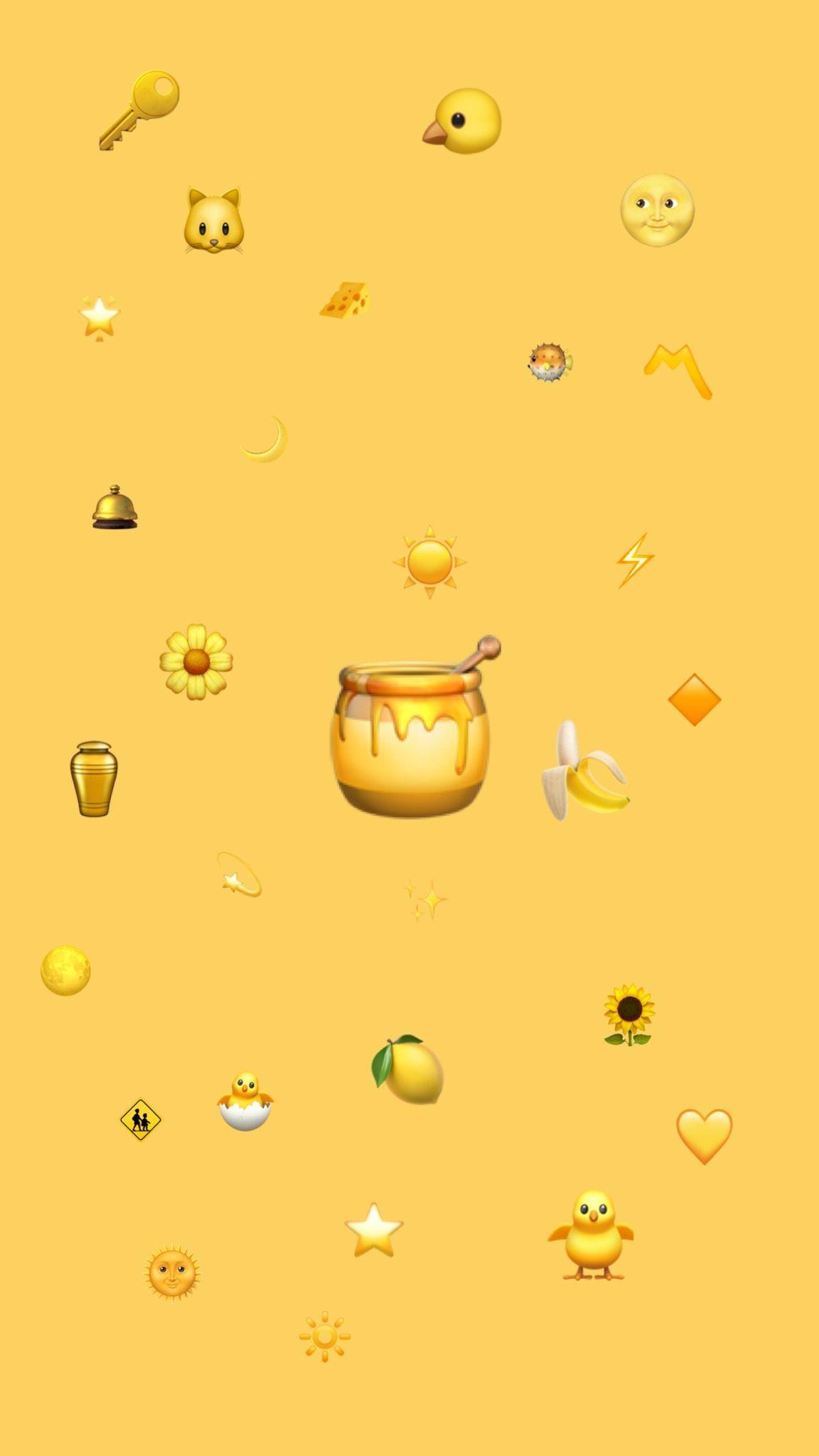 Emoji mustard yellow wallpaper #yellowaesthetic