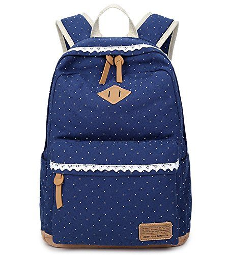 doublemay fashion m dchen schulrucksack damen canvas rucksack teenager taschen rucks cke. Black Bedroom Furniture Sets. Home Design Ideas