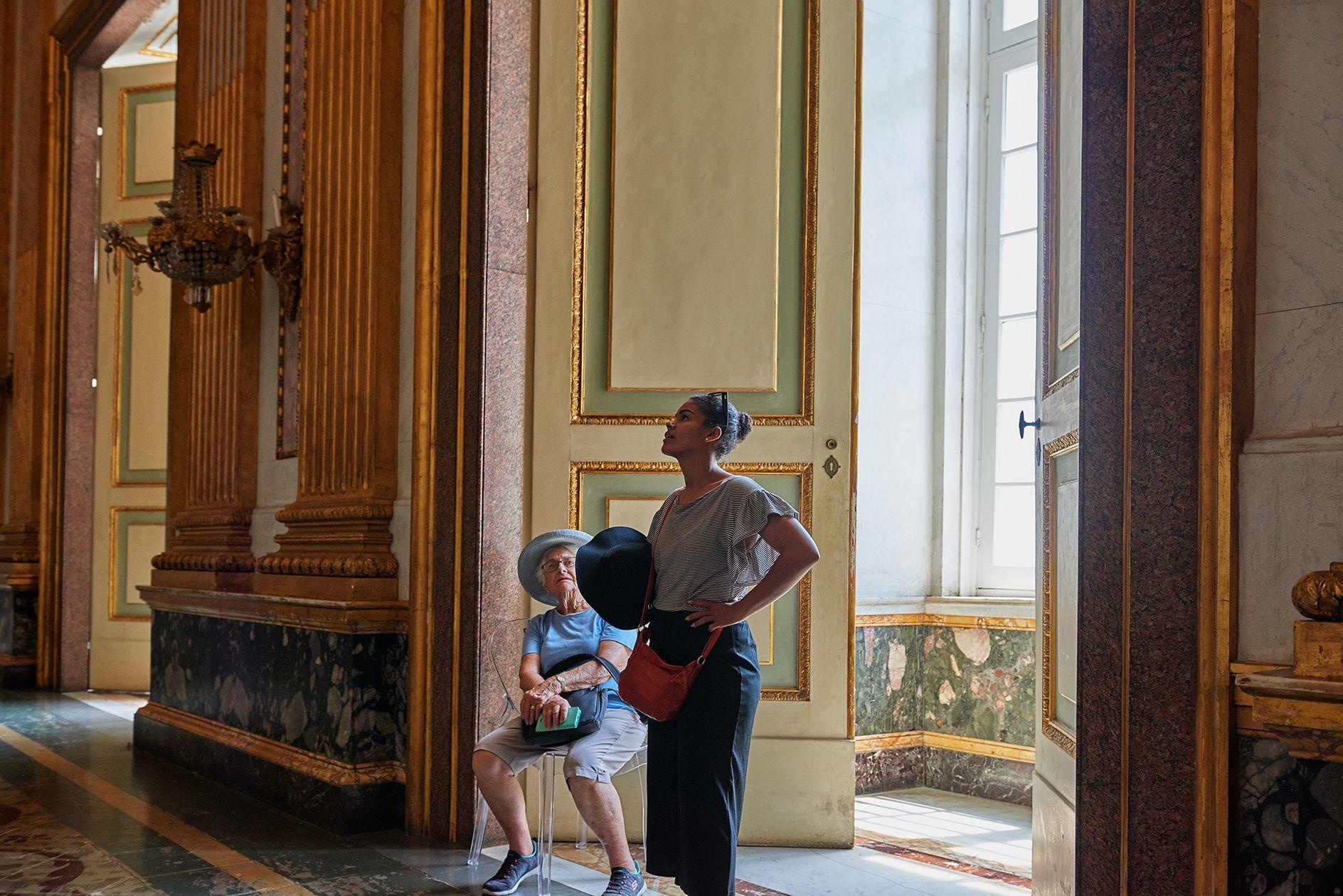En el palacio