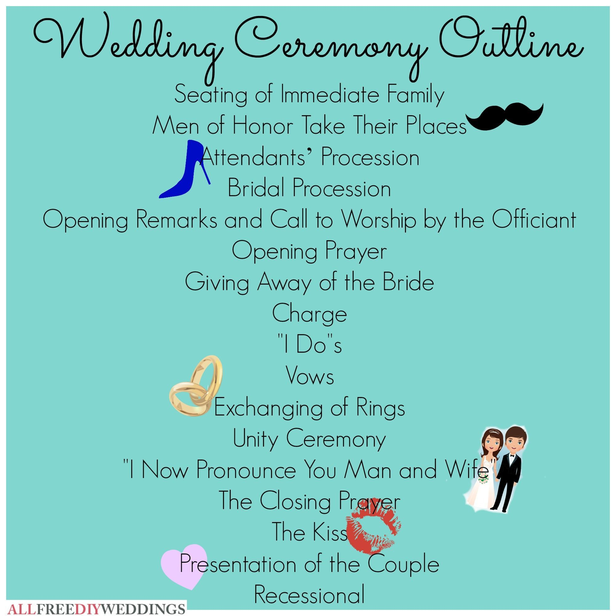 Finally The Wedding Ceremony Outline Spelled Out Clearly