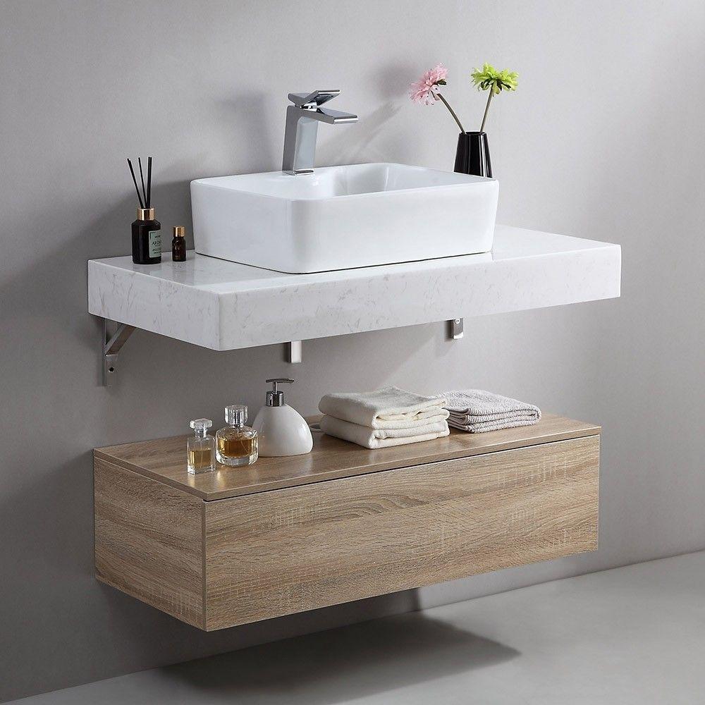 "Modern 36""/40"" Floating Wall Mount Single Bathroom Vanity ..."
