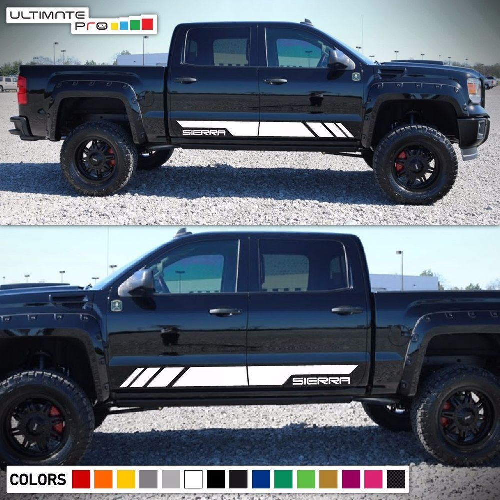 Decal sticker vinyl side stripe body kit for gmc sierra lamp guard door chrome ultimateprocy1ulti10deca15