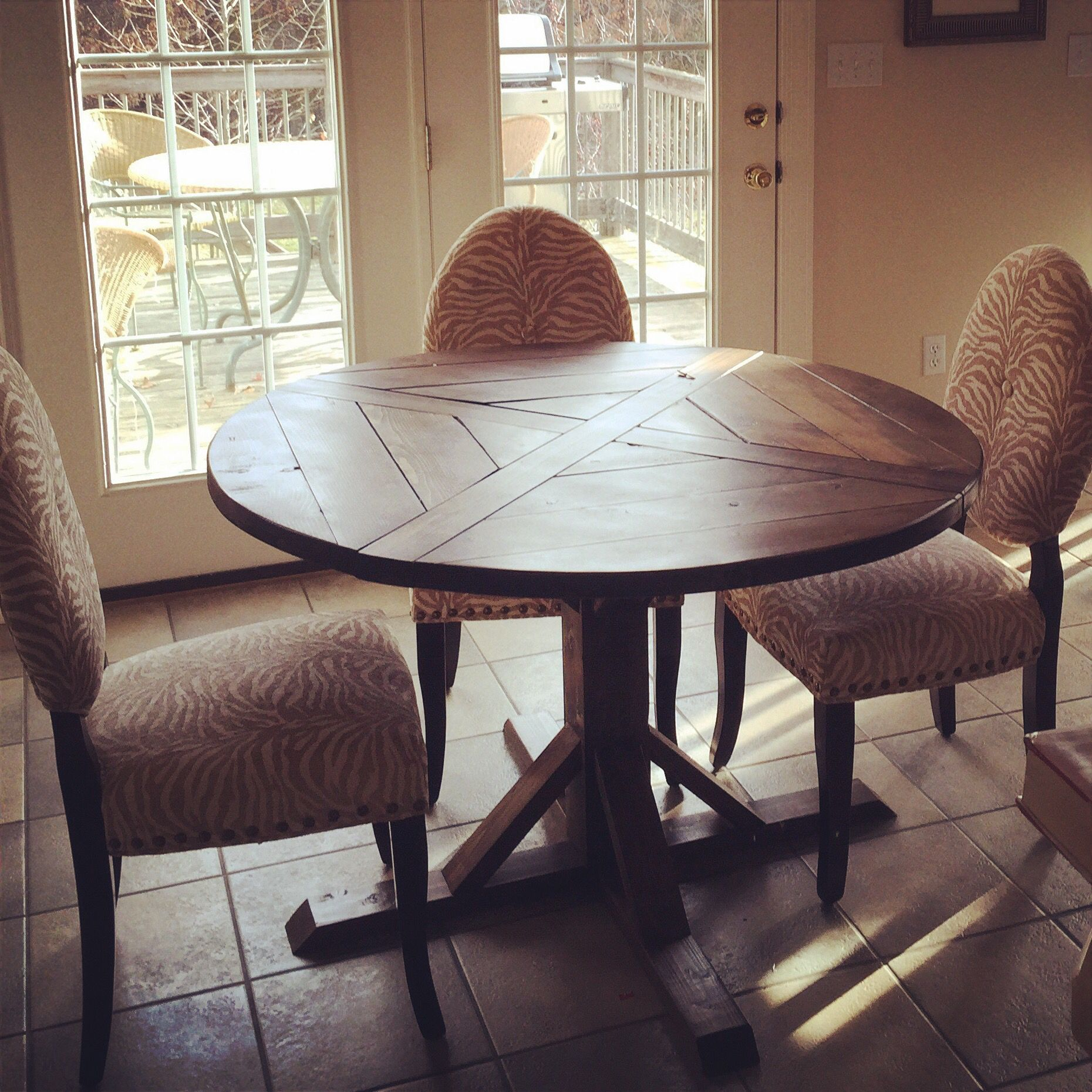 a 48   ashley round farmhouse table in dark walnut  a 48   ashley round farmhouse table in dark walnut    kitchen      rh   pinterest com