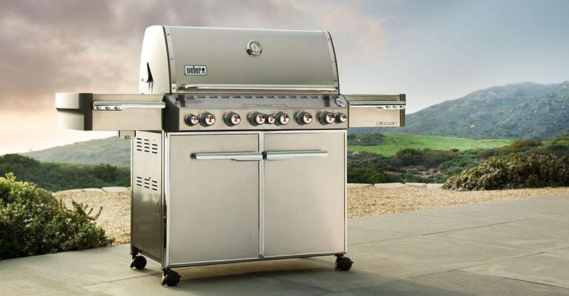 Flex Your Grilling Muscles With Weber Summit Gas Grills With Images Grilling Diy Outdoor Kitchen Gas Grill