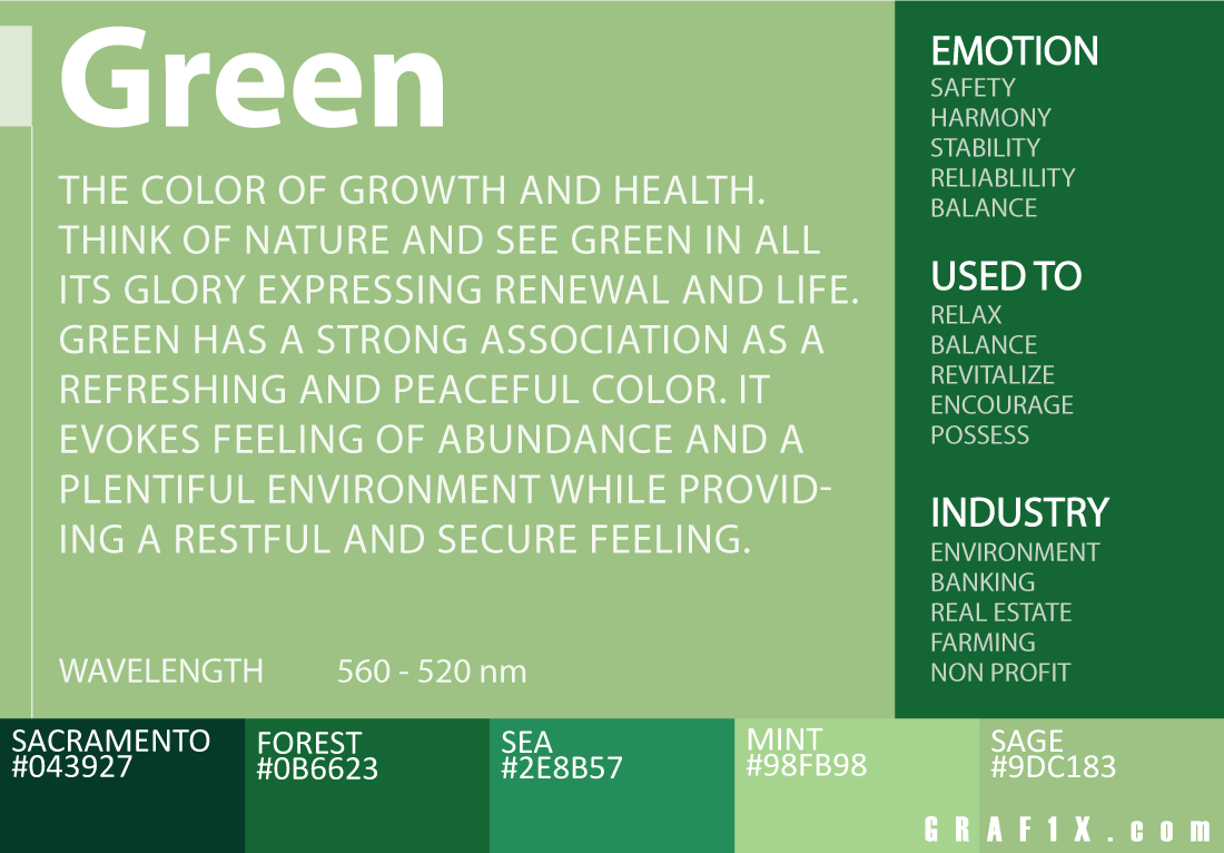 green color meaning | art | Pinterest | Green colors, Psychology and ...
