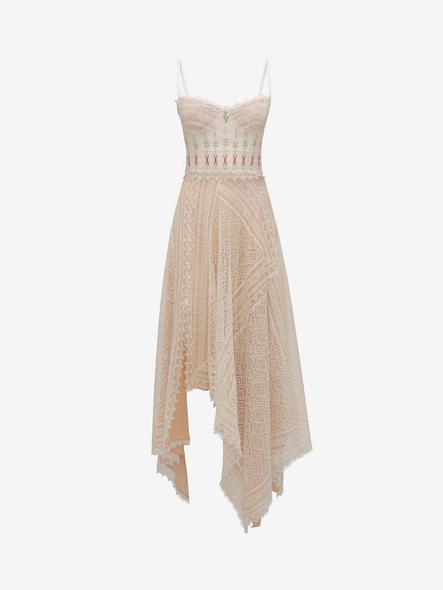4909829184f ALEXANDER MCQUEEN Lace Slip Dress Long Dress D f