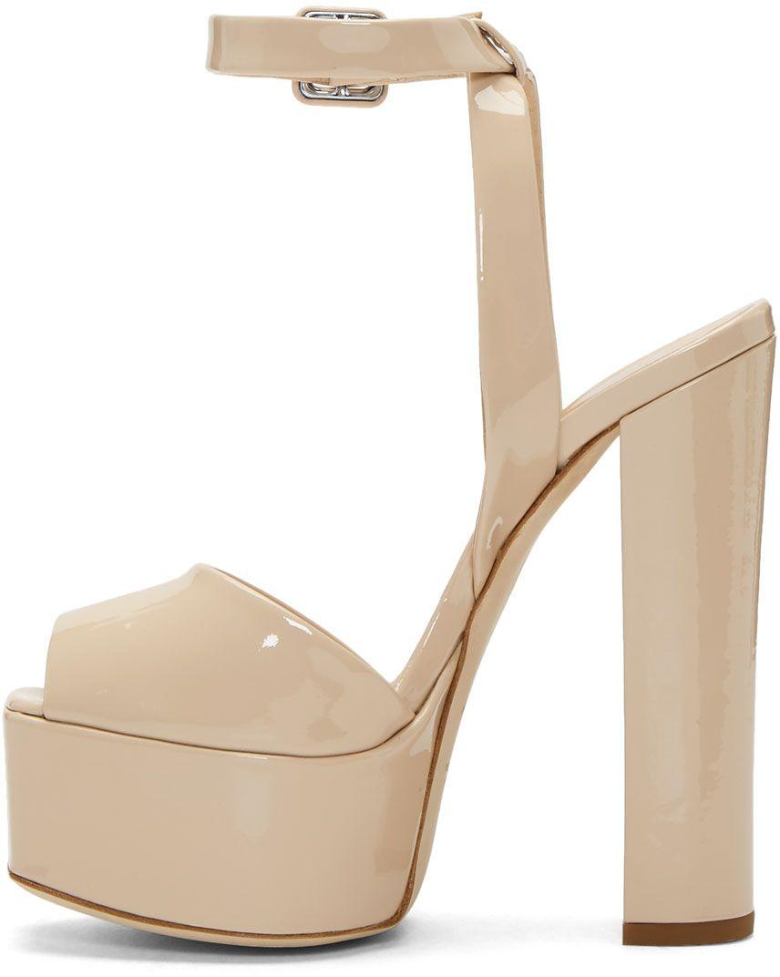 Giuseppe Zanotti SSENSE Exclusive Pink Patent Lavinia Platform Sandals aF2ZETFA