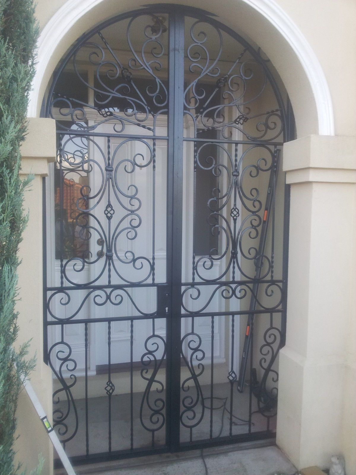 New Steel Wrought Iron Security Gate Screen Made To