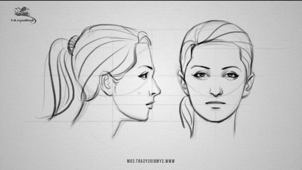 Drawing face profile how to draw a female face front and side view youtube