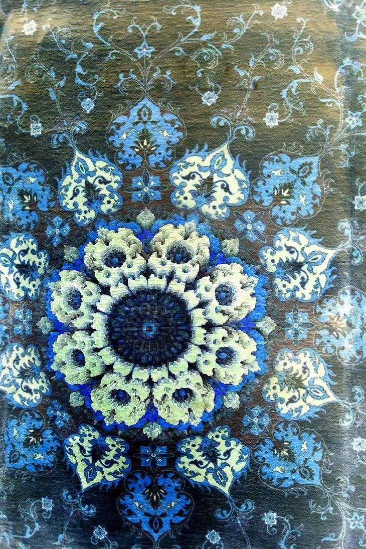 blue flower mandala