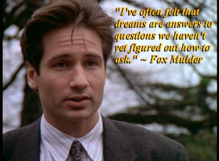 Jimi J Jemel Dreams Are Answers X Files Mulder Funny Stories