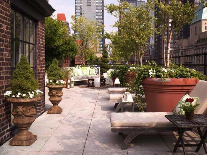 minimalismo: terrazas modernas en edificios antiguos   diseño de