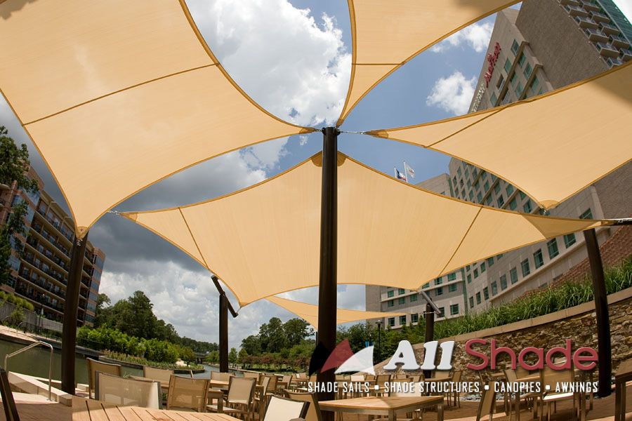 Restaurant Awning Canopy Shade Sail Structure 2 In