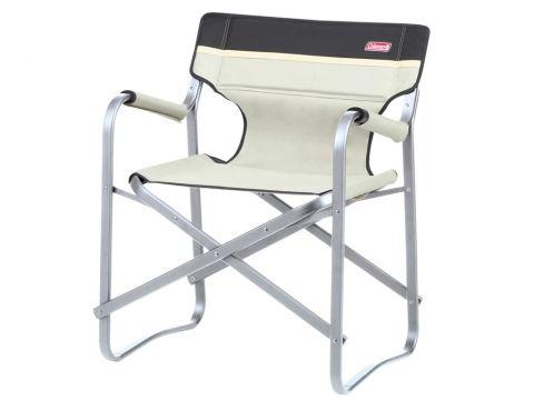 Coleman Campingstuhl Deck Chair mit Tisch khaki Klappstuhl