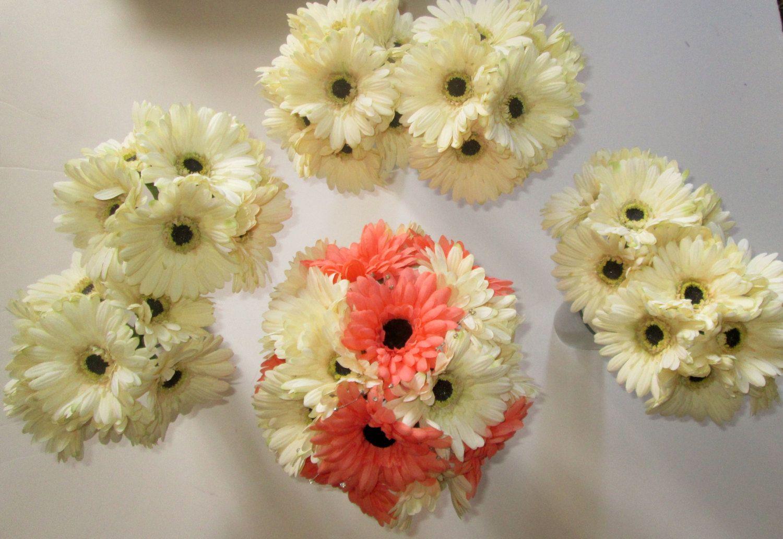 Gerbera Daisy Wedding Bouquet Silk Wedding By Shannonkristina