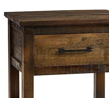 Paulsen Reclaimed Wood Nightstand Cinder Gray Brown