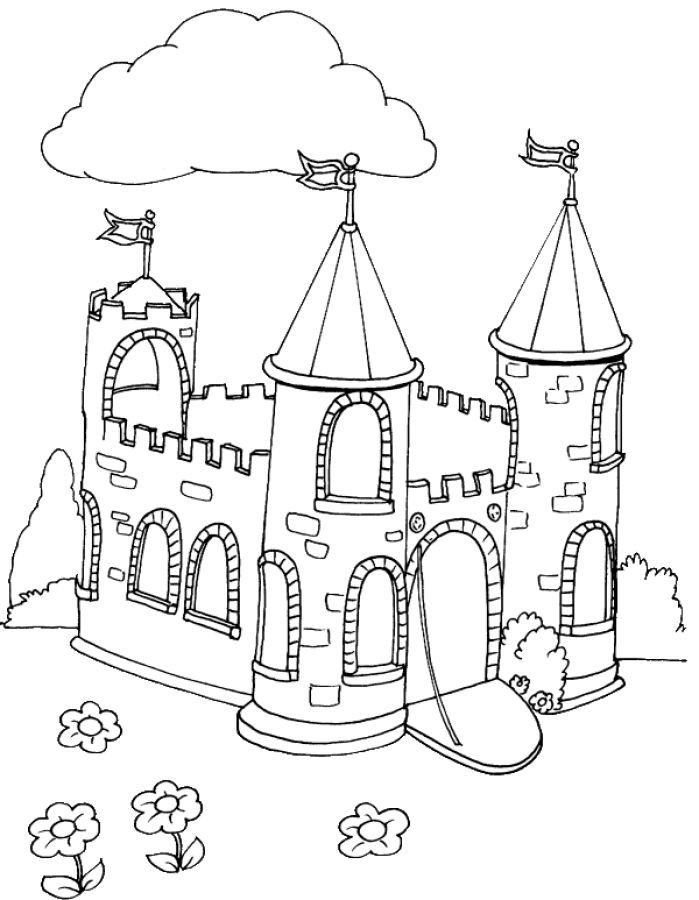 Kids Colouring Castle Free Printable Castle Coloring Pages For Kids ...