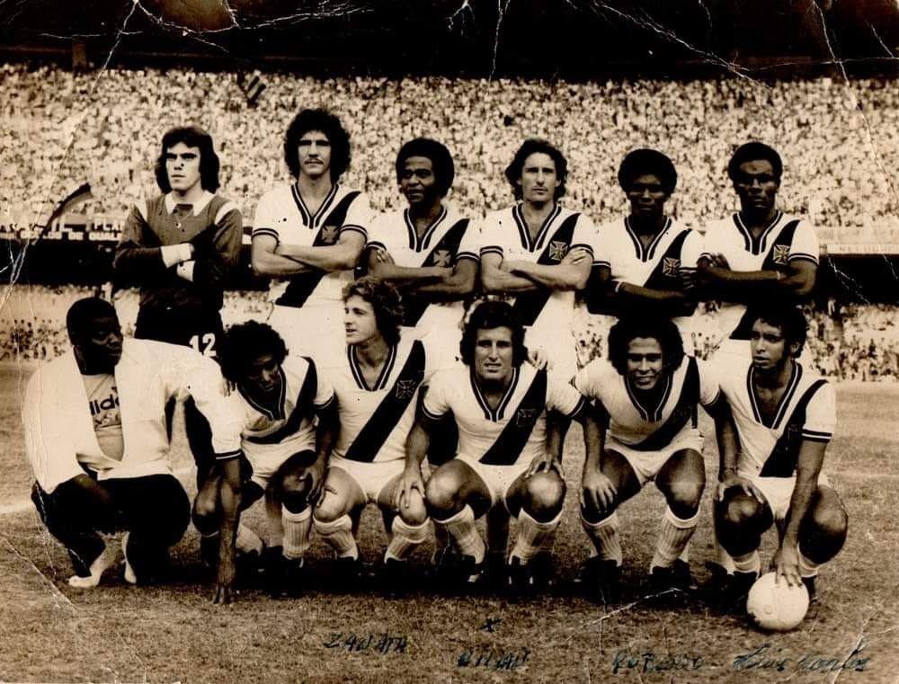Equipe do Vasco em 7 de setembro de 1975, antes de