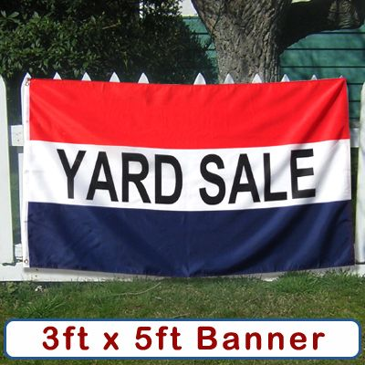 yard sale banner sign flag moving tag rummage garage estate big