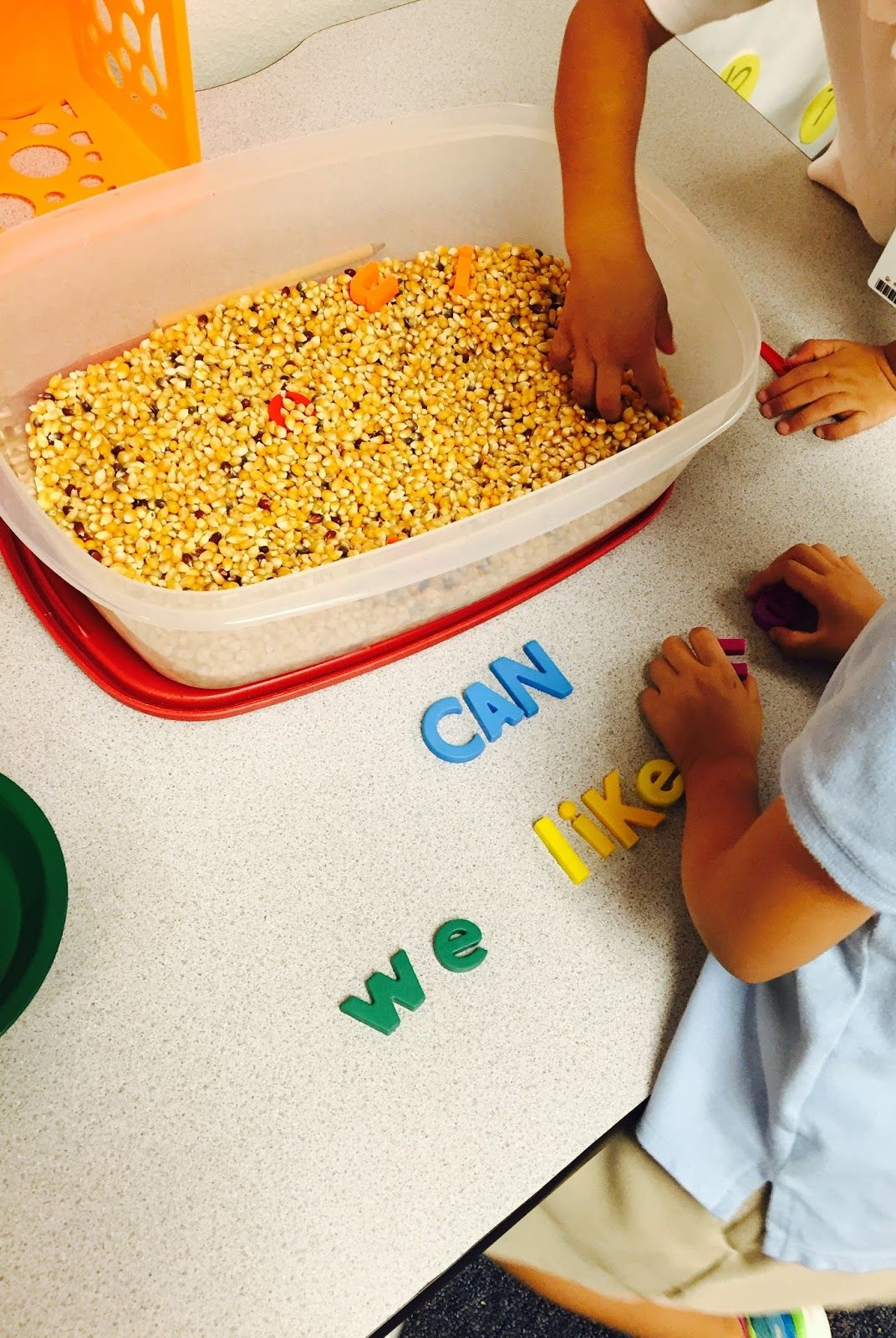 Sight Word Sensory Tub Activity Provide Students With A List Of Words And Have Them Search For