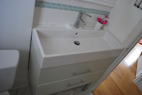 project bathroom caulking bathrooms floating bathroom sink bathroom ikea sinks. Black Bedroom Furniture Sets. Home Design Ideas