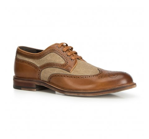Men S Lace Up Shoes From Grain Leather And Textile Material Wittchen 90 M 510 Mens Leather Bag Dress Shoes Men Shoes