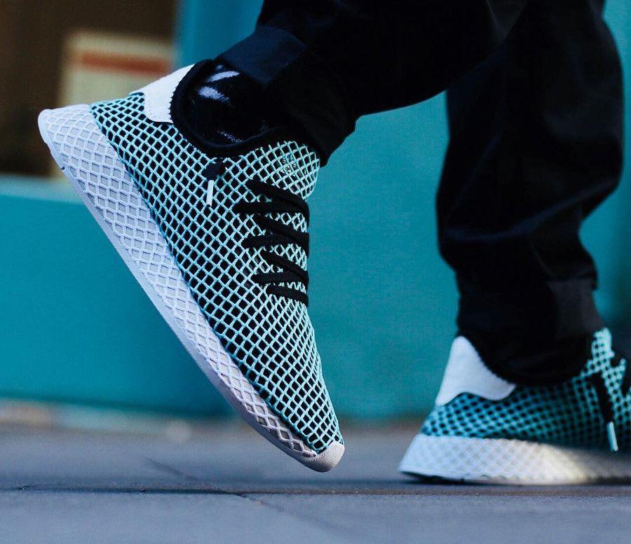 pretty nice 66e77 37d09 Chaussure-adidas-deerupt-runner-parley-homme-on-feet (