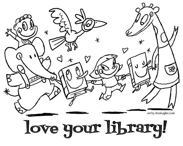 Free Coloring Page Library Week Library Activities Preschool Coloring Pages