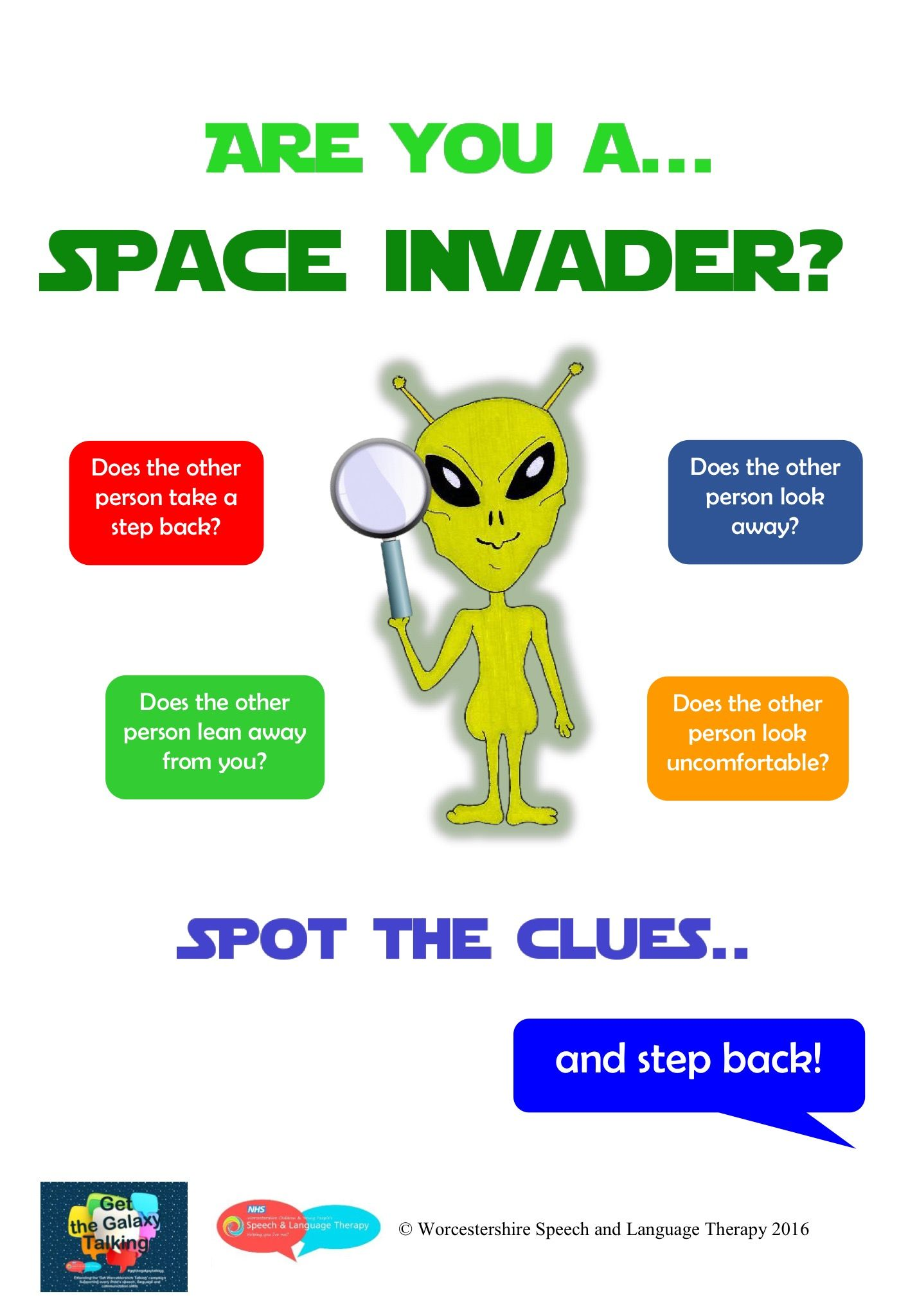 Visual Support For Teaching Children About Personal Space