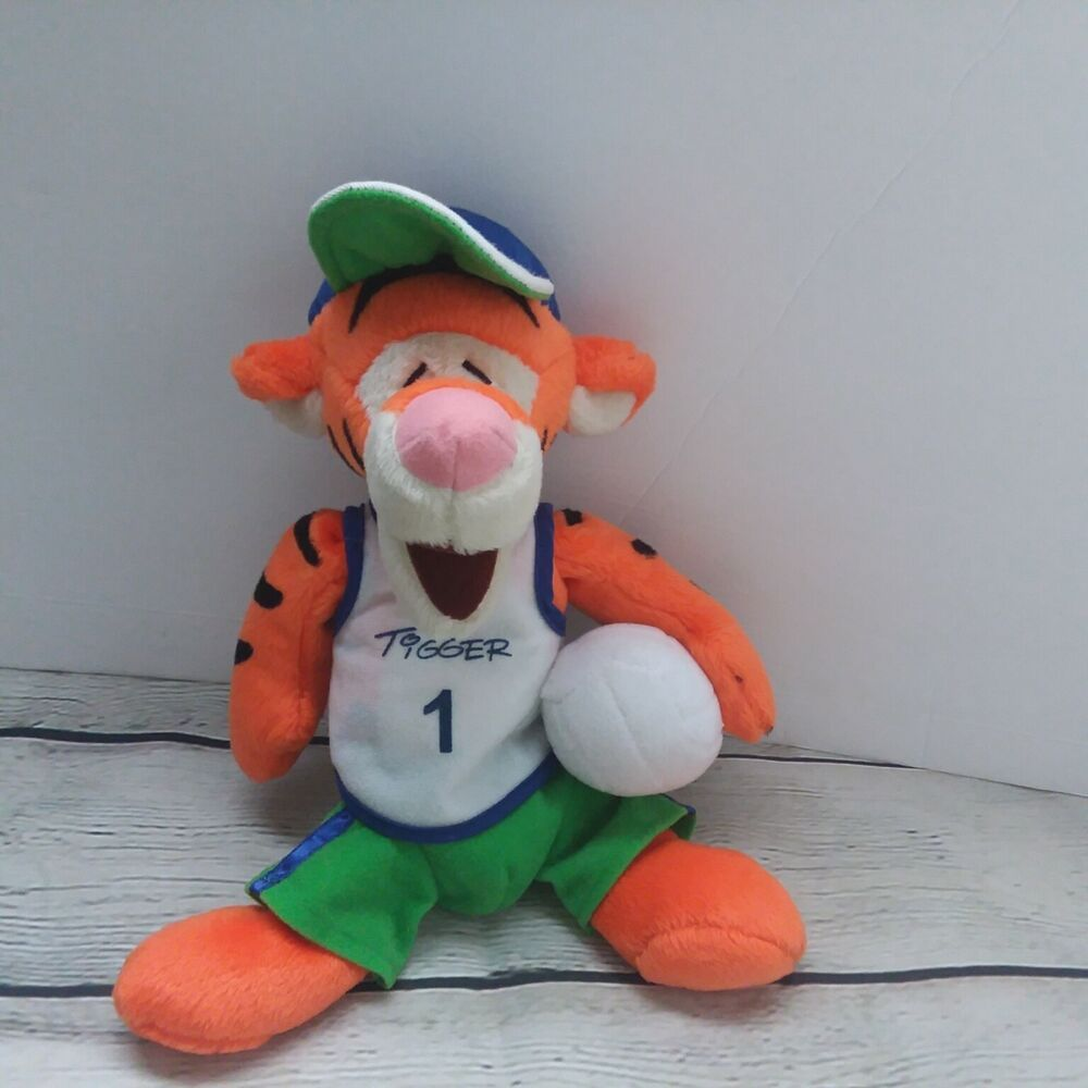 Disney World Volleyball Player Tigger 10 Uniform Cap Plush Stuffed Toy Animal Disney Pet Toys Disney World Toys