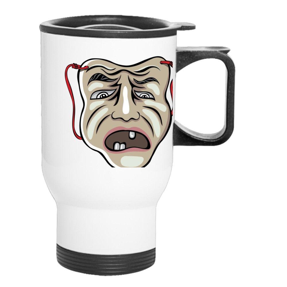 Ugly Face Opera Travel Mug