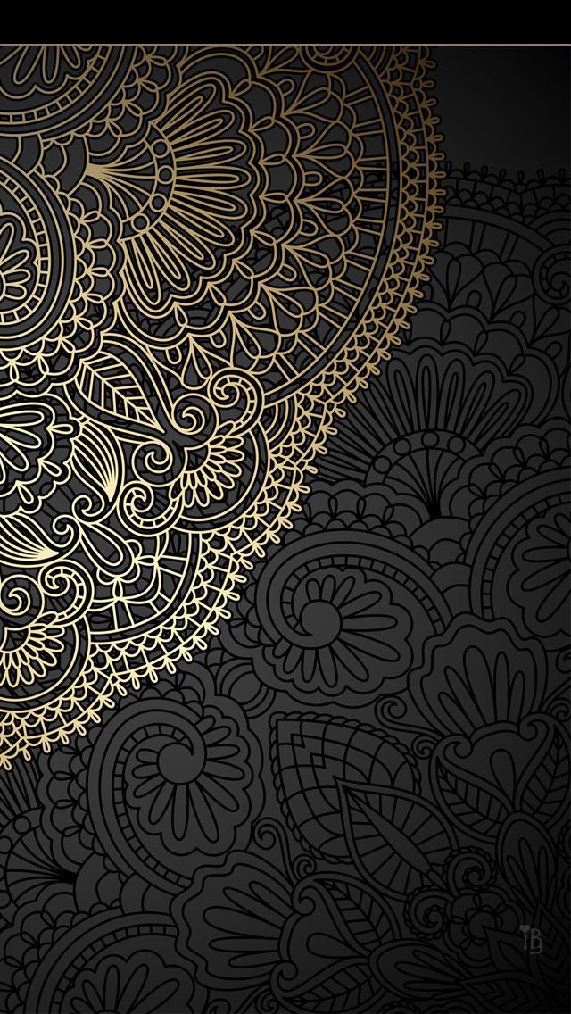 Gold And Black Mandala Wallpapers Pinterest Iphone Wallpaper