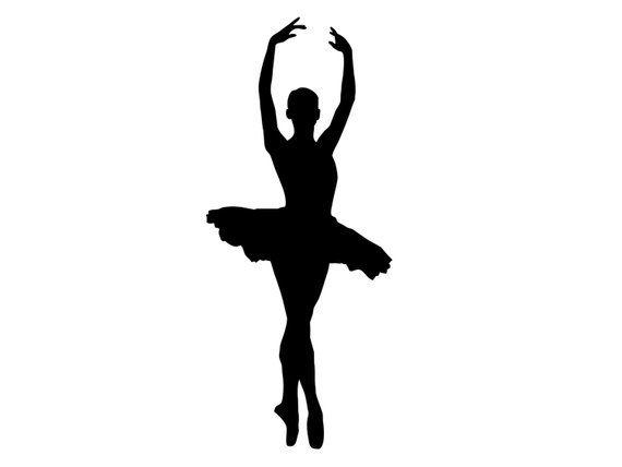 de80d3db646ba Tall Dancing Ballerina - Silhouette Ballet Dancer - VINYL DECAL STICKER