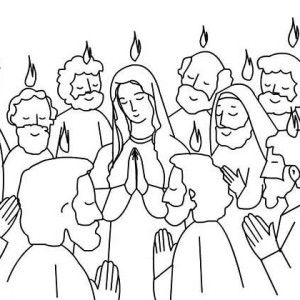 Pentecost, Pentecost Praise Jesus And Holy Spirit Coloring