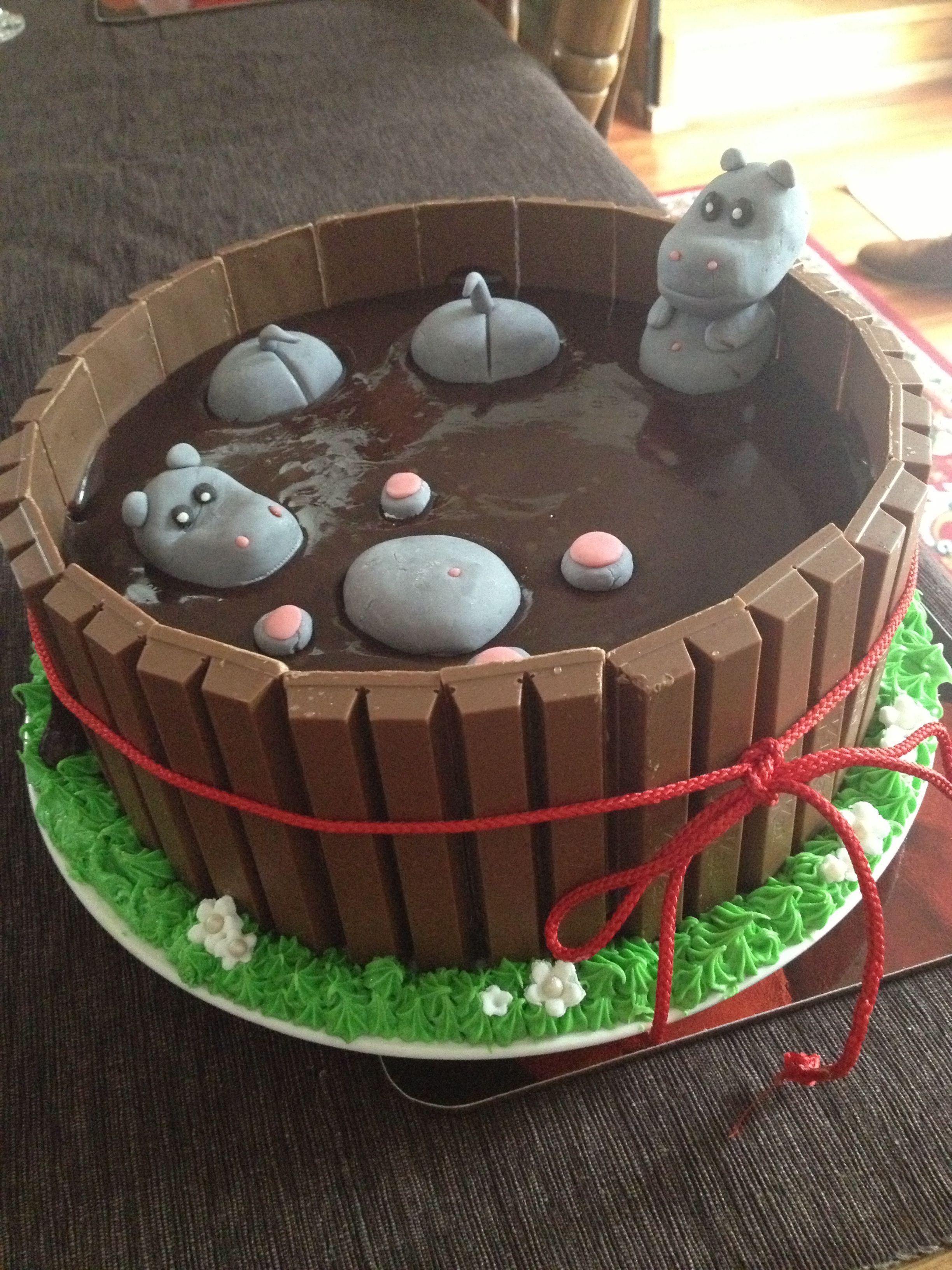 My Take On Pig In Mud Cake Hippos In Mudinking Of Making This As