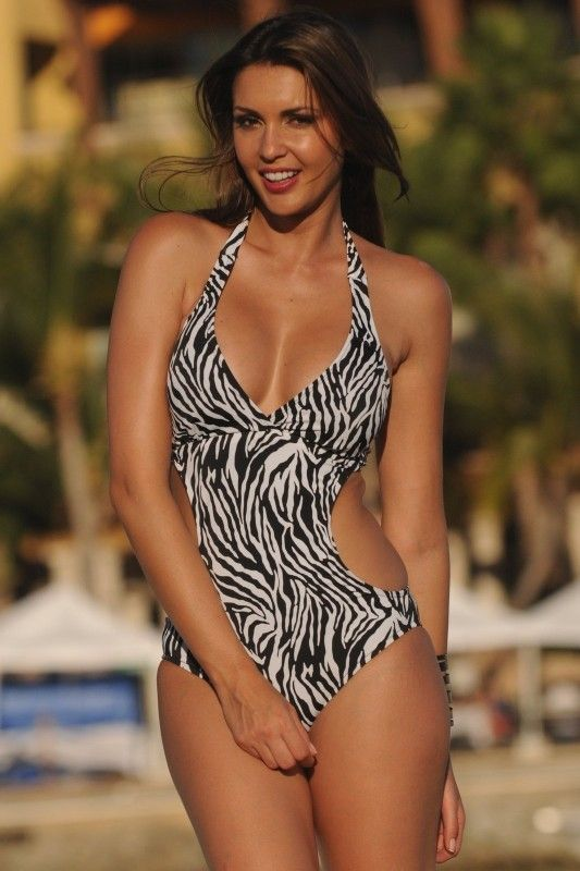 0a52cee7f Zebra Cut-Out - UjENA Zebra Cut-Out - This 1-PC will shape your most  important curves just right. Black and white zebra print is unique and fun!