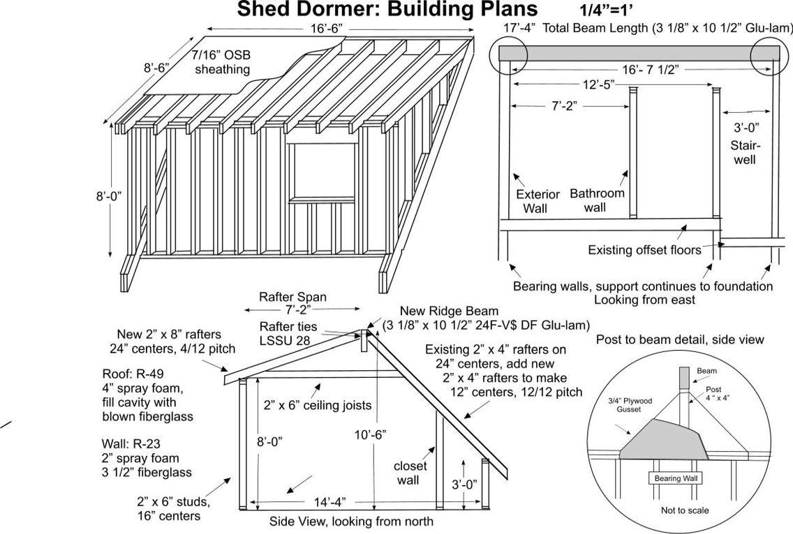 Shed dormer framing info Dormers, Shed dormer, Shed