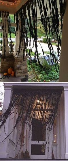 Top 20 Ideas Turn Trash Bags Into Creepy Halloween Decorations #cheapdiyhalloweendecorations