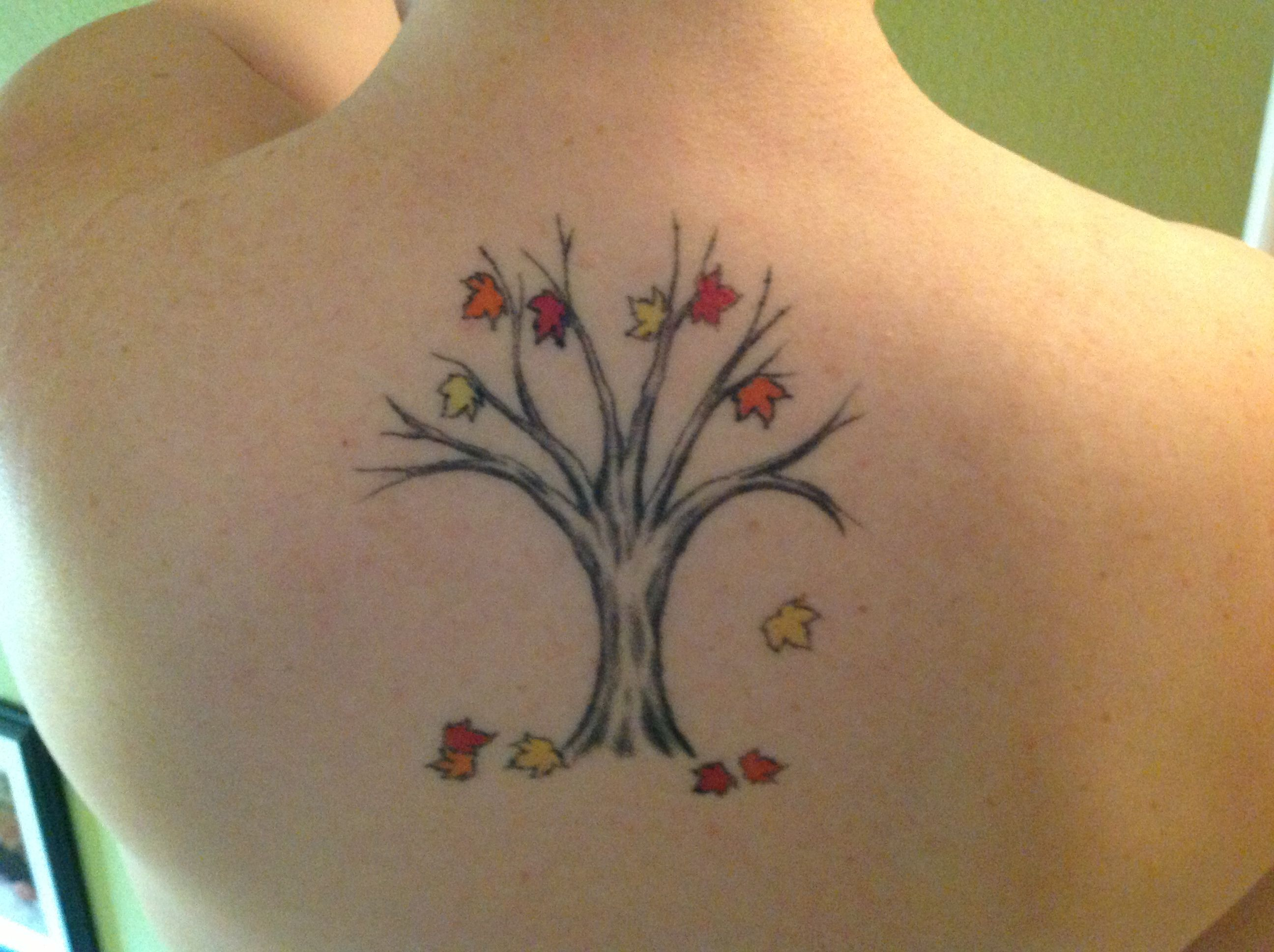 My Family Tree tattoo. The leaves represent my family ...