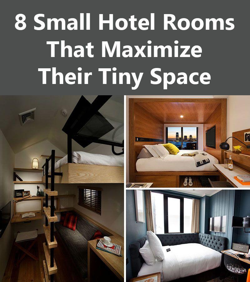 8 small hotel rooms that maximize their tiny space deberes espacios y interiores - Maximize small space image ...