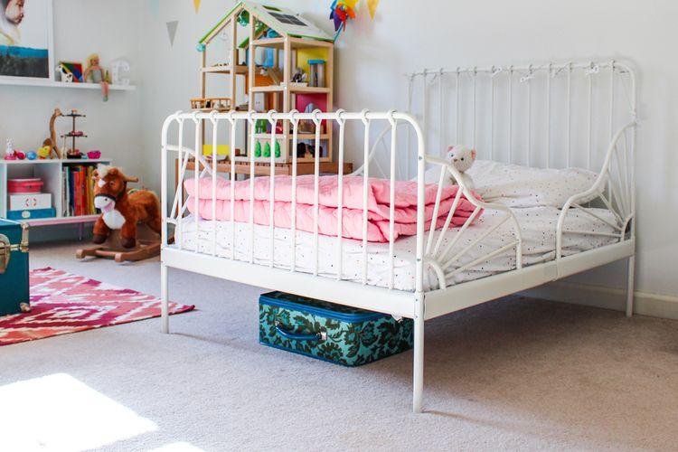 Ikea Minnen Bed Designerly Ikea Minnen Bed Ikea Girls Room Ikea Toddler Bed