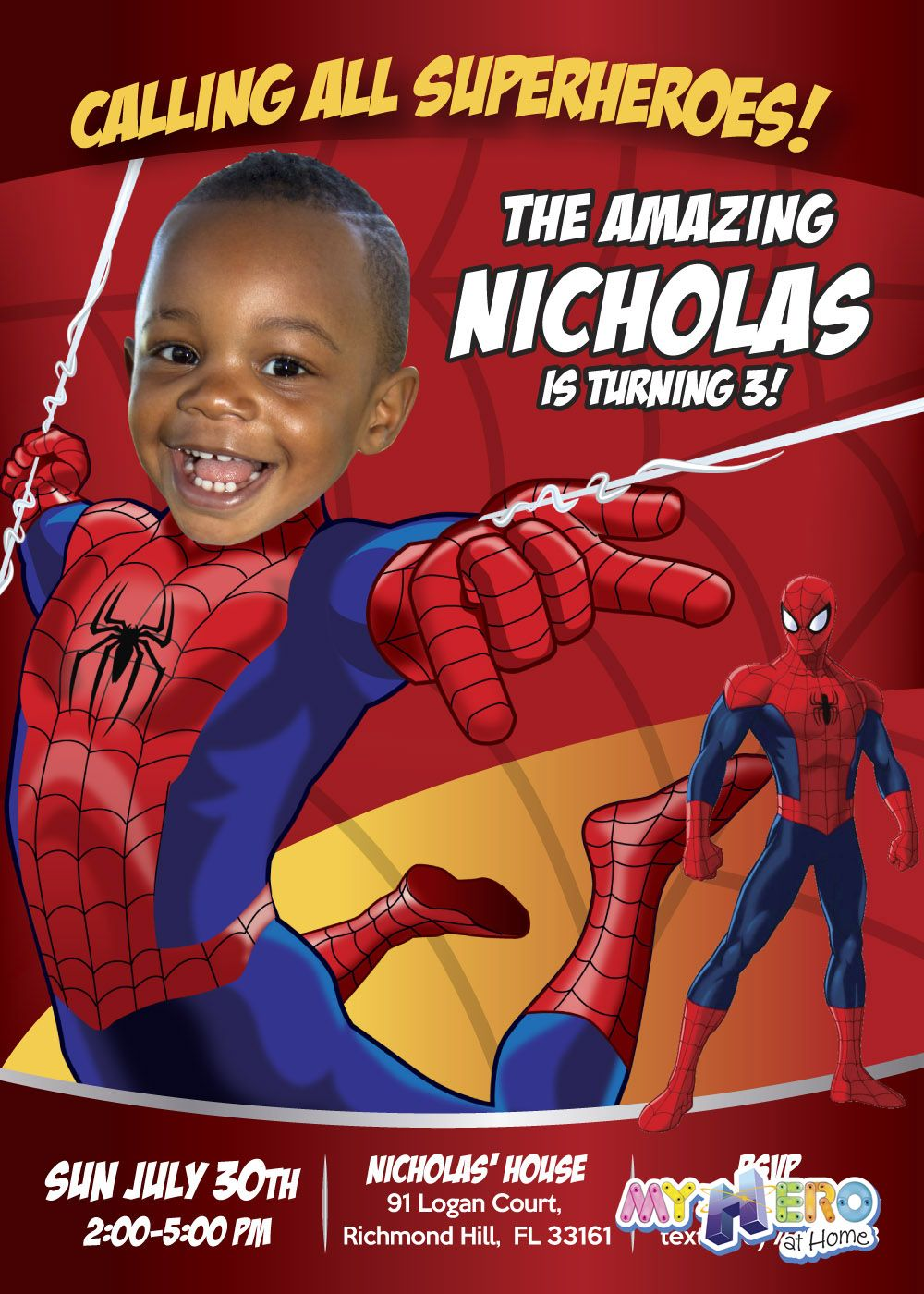 Turn your little one into Spiderman for his unique Birthday