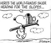 snoopy skiing - Google Search